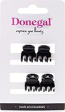 Kup Żabki do włosów FA-9930, czarne, 4 szt. - Donegal Hair Clip