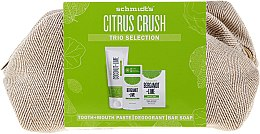 Zestaw - Schmidt's Citrus Crush Trio Selection (deo 58 ml + soap 142 g + t/paste 100 ml + bag) — фото N1