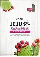 Kup Odżywcza relaksująca maska w płachcie do twarzy z ekstraktem z kaktusa - SNP Jeju Rest Cactus Mask