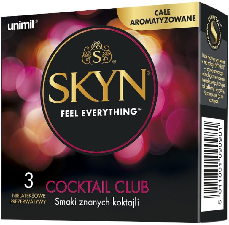 Prezerwatywy 3 szt. - Unimil Skyn Cocktail Club — фото N1