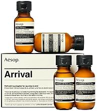Kup Zestaw podróżnych kosmetyków - Aesop Arrival Travel Kit (shm/50ml + cond/50ml + sh/gel/50ml + balm/50ml)