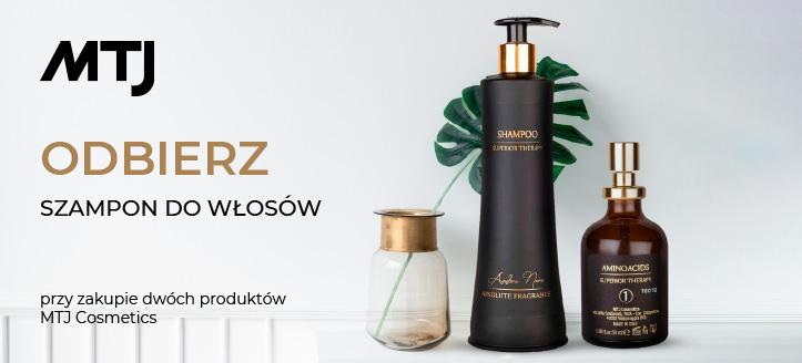 Kup dwa produkty  MTJ Cosmetics, a szampon do włosów normalnych otrzymasz w prezencie.