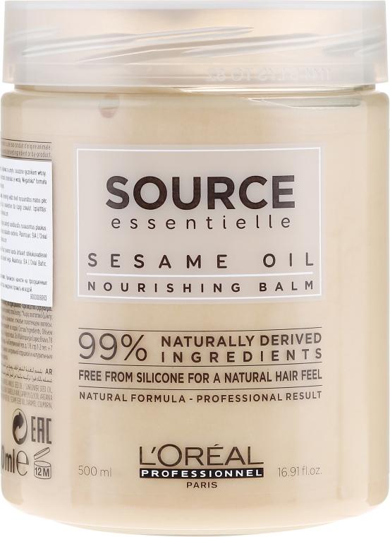 Odżywczy balsam do włosów z olejem sezamowym - L'Oreal Professionnel Source Essentielle Nourishing Balm — фото N3