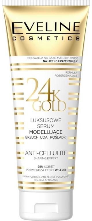 Luksusowe serum modelujące brzuch, uda i pośladki - Eveline Cosmetics 24K Gold