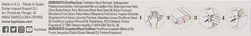 Paski z zimnym woskiem do depilacji twarzy i delikatnych stref - Byphasse Cold Wax Strips Face & Delicate Areas For Sensitive Skin — фото N5