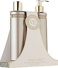 Kup Zestaw do pielęgnacji ciała - Vivian Gray Brown Crystals Set (sh/gel 250 ml + b/lot 250 ml)