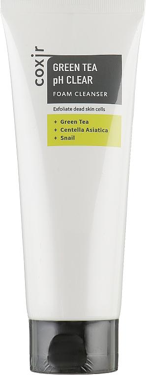 Pianka czyszcząca - Coxir Green Tea pH Clear Foam Cleanser — фото N1