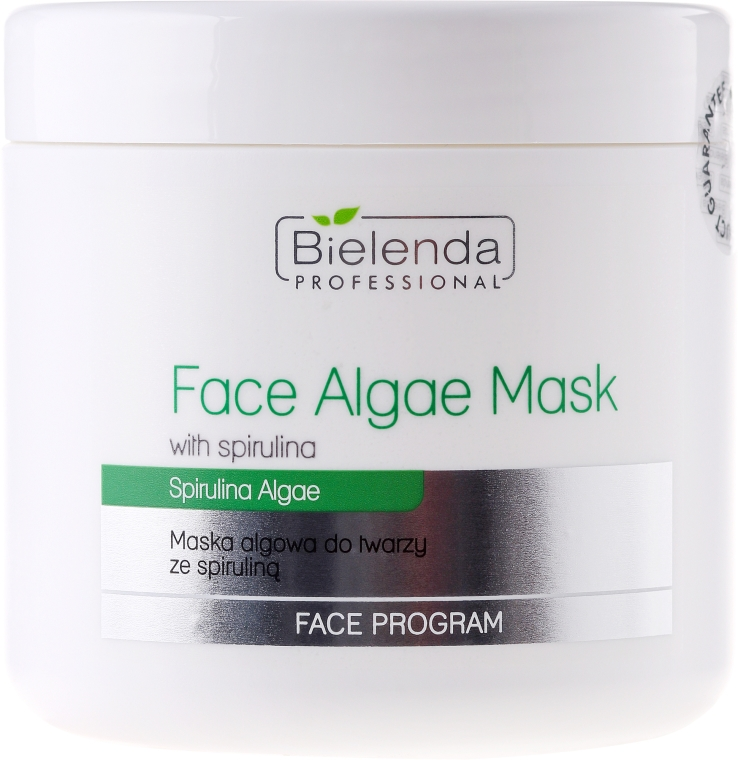Maska algowa ze spiruliną do twarzy - Bielenda Professional Face Program Algae Spirulina Face Mask