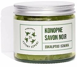 Kup Mydło konopne savon noir Eukaliptus i szałwia - Cztery Szpaki Savon Noir Soap