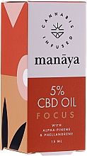 Kup Olej CBD poprawiający koncentrację i skupienie - Manaya 5 % CBD Oil Focus