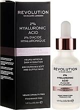 Kup Serum nawilżające i ujędrniające skórę z 2% kwasem hialuronowym - Makeup Revolution Skincare Plumping & Hydrating Serum 2% Hyaluronic Acid