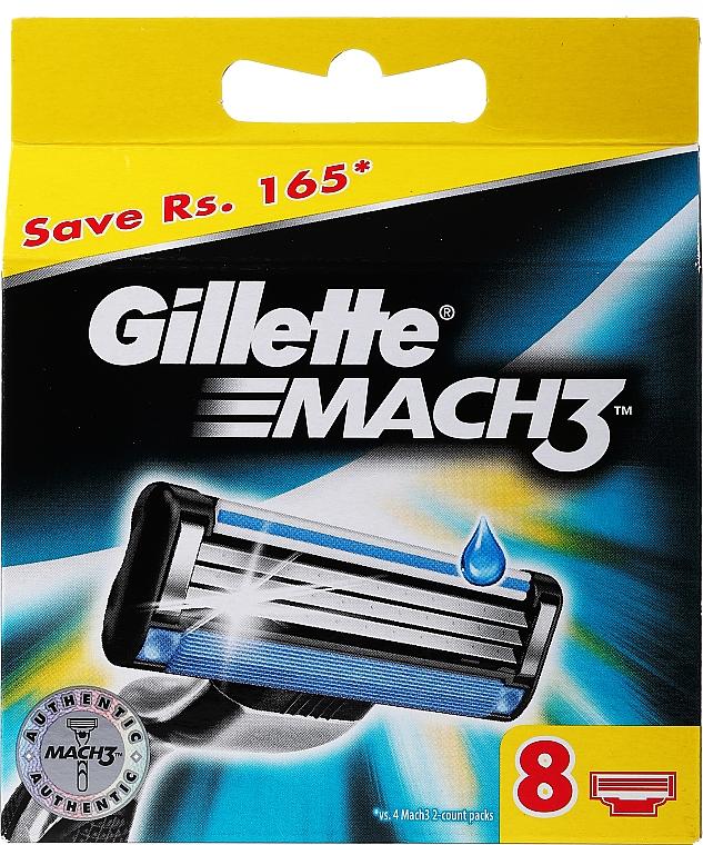 Wymienne wkłady do maszynki, 8 szt. - Gillette Mach3
