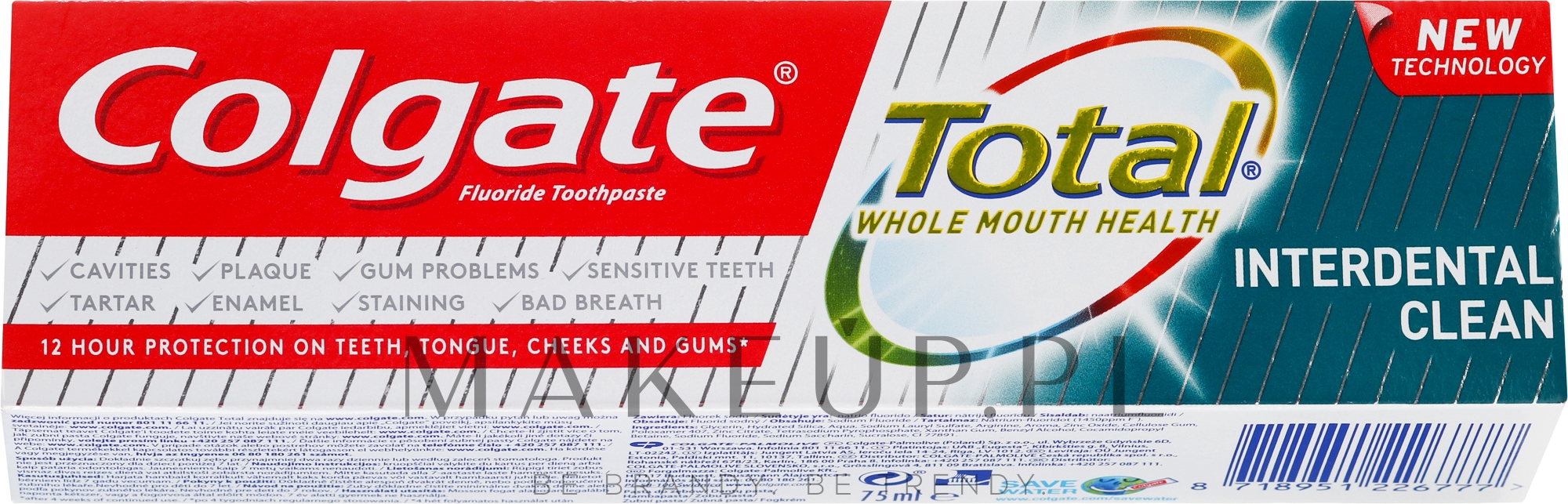 Pasta do zębów - Colgate Total Interdental Clean — фото 75 ml