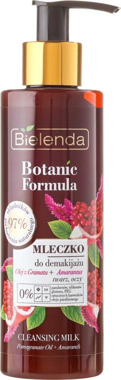 Mleczko do demakijażu twarzy i oczu Olej z granatu + amarantus - Bielenda Botanic Formula Pomegranate Oil + Amaranth Cleansing Milk