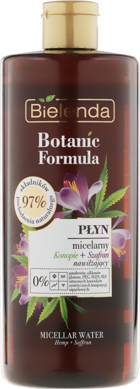Nawilżający płyn micelarny Konopie + szafran - Bielenda Botanic Formula