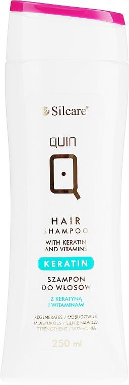 Szampon do włosów z keratyną i witaminami - Silcare Quin Keratin & Vitamins Shampoo — фото N1