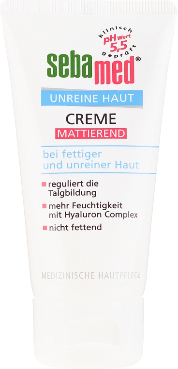 Matujący krem do twarzy - Sebamed Clear Face Mattifying Cream — фото N2