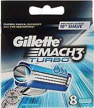 Wymienne ostrza do maszynki, 8 szt. - Gillette Mach3 Turbo — фото N8