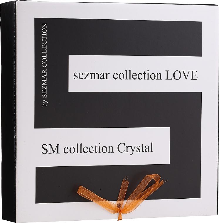 Zestaw - Sezmar Collection Love Crystal (sh/gel/250ml + massage/oil/100ml + b/lot/200ml) — фото N1