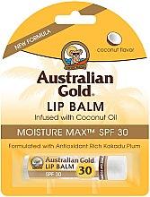 Kup Przeciwsłoneczny balsam do ust SPF 30 Kokos - Australian Gold Lip Balm Infused With Coconut Oil