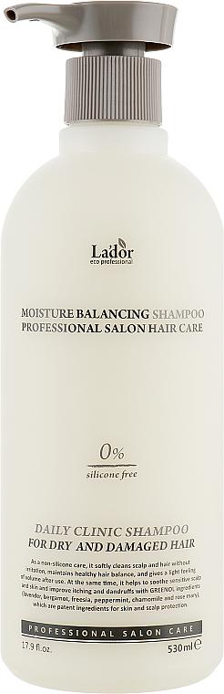 Szampon nawilżający bez silikonu - La'dor Moisture Balancing Shampoo