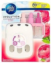Kup Zestaw dyfuzor + wkłady zapachowe, Róża - Ambi Pur (diffuser/1szt+refill/3x7ml)
