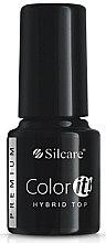 Kup Top coat chroniący kolor lakieru hybrydowego - Silcare Color IT Premium Hybrid Top Coat Gel
