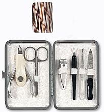 Kup Komplet do manicure i pedicure, 6 elementów, 79689, brązowy - Top Choice