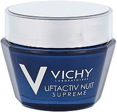Kup Ujędrniająco-przeciwzmarszczkowy krem na noc z efektem liftingującym - Vichy LiftActiv Nuit Supreme (tester)