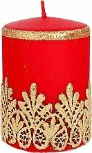 Kup Świeca ozdobna koronkowa, czerwona, 7x10 cm - Artman Lace Christmas