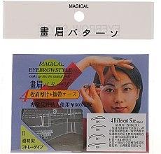 Kup Szablon do makijażu brwi, rozmiar B5, B6, B7, B8 - Magical Eyebrow Style