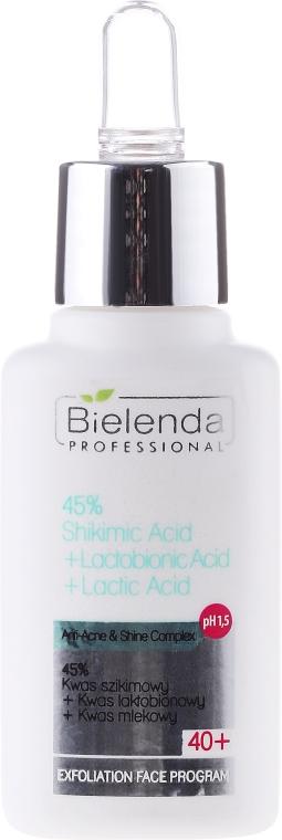 45% kwas szikimowy + kwas laktobionowy + kwas mlekowy 40+ - Bielenda Professional Exfoliation Face Program — фото N1