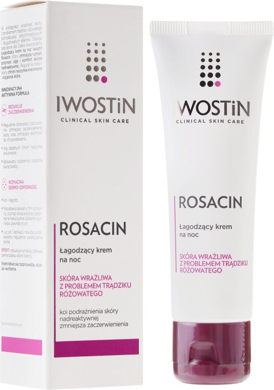 Krem na noc łagodzący rumień w trądziku różowatym - Iwostin Rosacin — фото N1