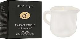 Kup PRZECENA! Świeca do masażu z olejem arganowym dla mężczyzn - Organique Spa Massage Candle With Argan Oil *