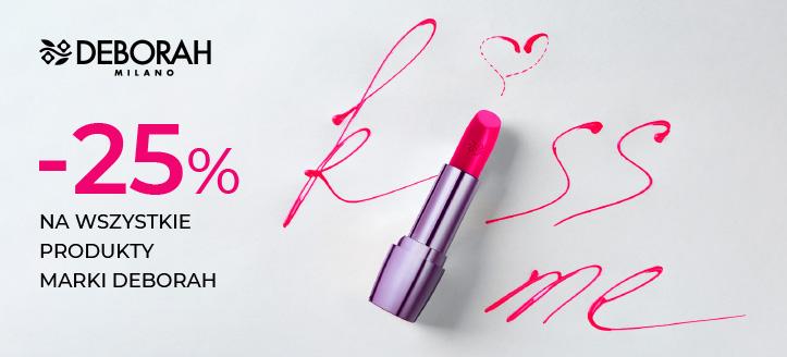 Zniżka 25% na wszystkie produkty marki Deborah. Ceny na stronie uwzględniają rabat.