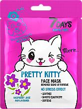 Kup Maseczka do twarzy Ładny kotek - 7 Days Animal Pretty Kitty