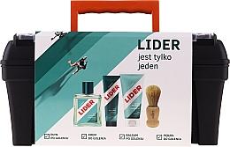 Kup Zestaw - Lider Classic Tool Box Set (ash/lot 100 ml + sh/cr 65 g + ash/balm 100 ml + sh/brush + case)