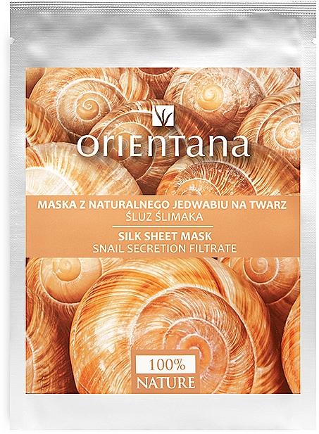 Maska z naturalnego jedwabiu na twarz Śluz ślimaka - Orientana