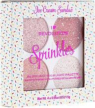 Kup Paletka różów i rozświetlaczy do twarzy - Makeup Revolution I Heart Revolution Sprinkles