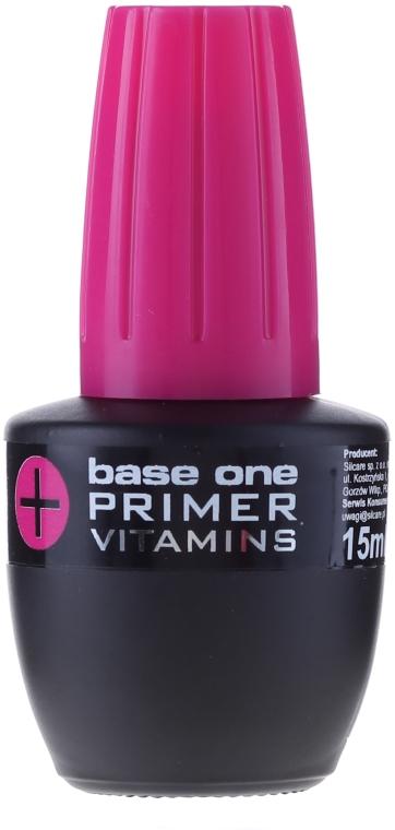 Baza z witaminami poprawiająca przyleganie produktów do płytki paznokcia - Silcare Base One Primer+Vitamins — фото N1