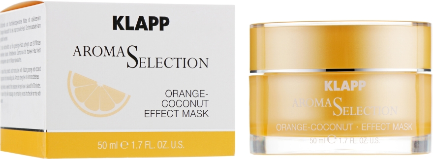 Ochronna kremowa maska do twarzy Pomarańcza i kokos - Klapp Aroma Selection Orange-Coconut Mask — фото N1