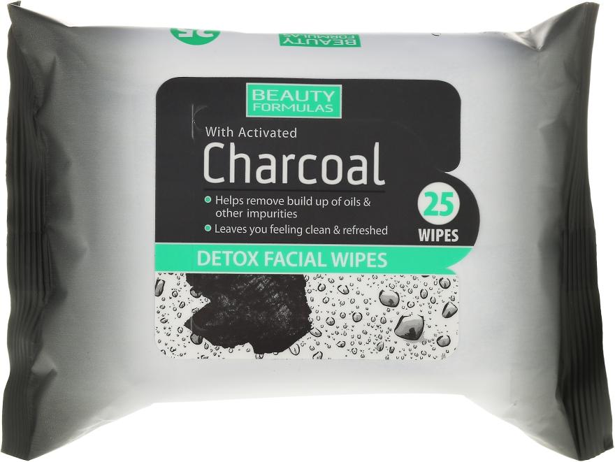 Detoksykujące chusteczki do twarzy z węglem aktywnym - Beauty Formulas Charcoal Detox Facical Wipes