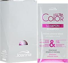 Kup Szampon do włosów blond, rozjaśnianych i siwych nadający im różowy odcień - Joanna Ultra Color System (5 x próbka)