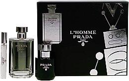 Kup Prada L'Homme Prada - Zestaw (edt 100 ml + sh/gel 100 ml + edt 10 ml)