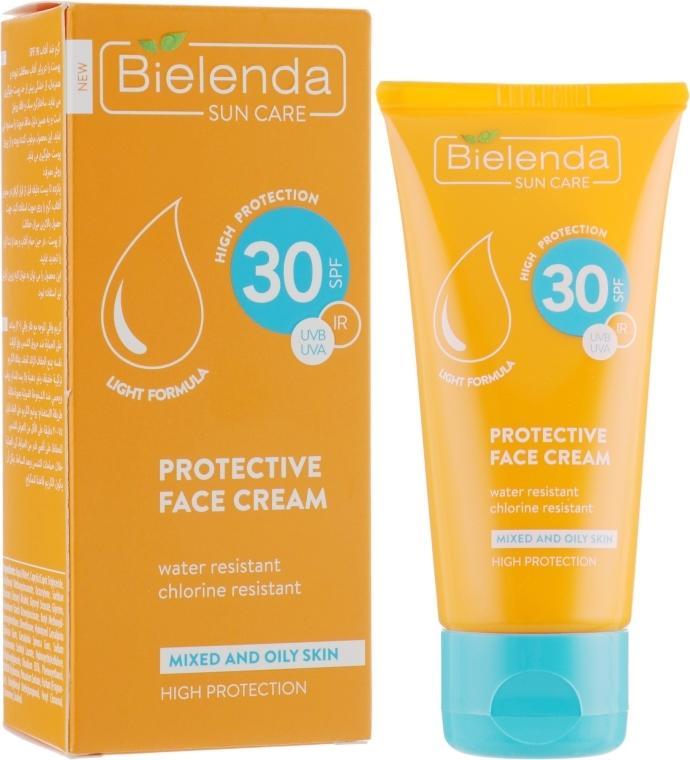 Krem ochronny do twarzy do skóry mieszanej i tłustej SPF 30 - Bielenda Sun Care Cream SPF30 — фото N1