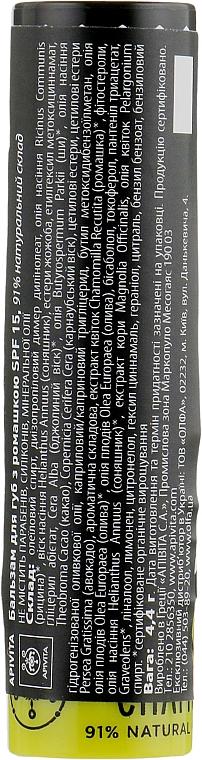 Naturalny balsam do ust Rumianek SPF 15 - Apivita Lip Care with Chamomile — фото N2