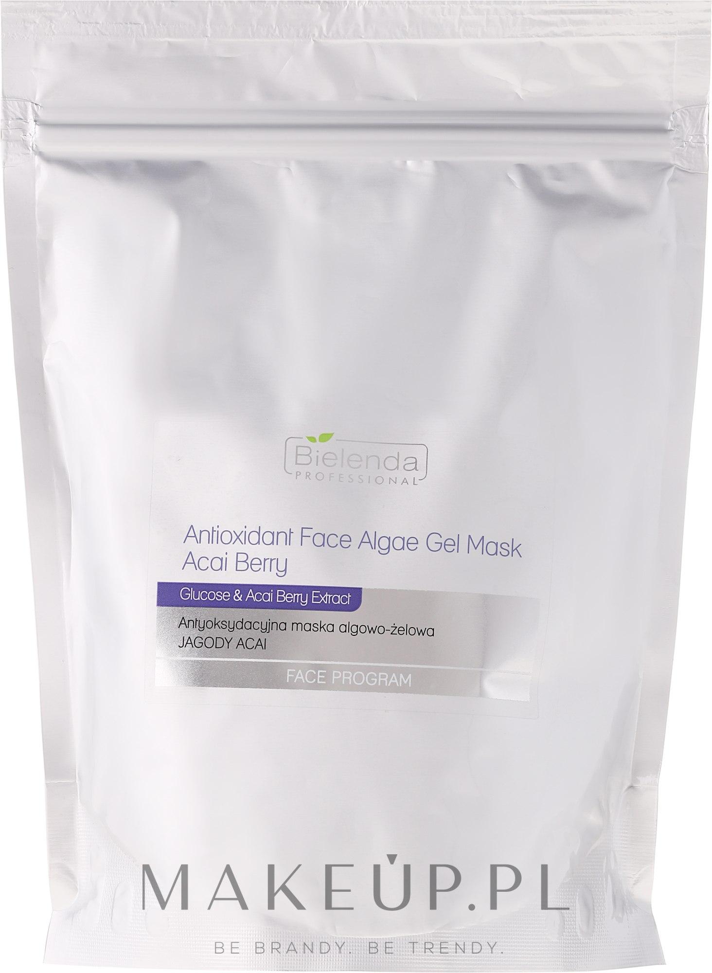 Antyoksydacyjna maska algowo-żelowa Jagody acai - Bielenda Professional Face Program Antioxidant Face Algae Gel Mask Acai Berry (uzupełnienie) — фото 190 g
