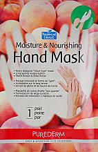Kup Nawilżająco-odżywcza maska do rąk z ekstraktem z brzoskwini - Purederm Moisture & Nourishing Hand Mask