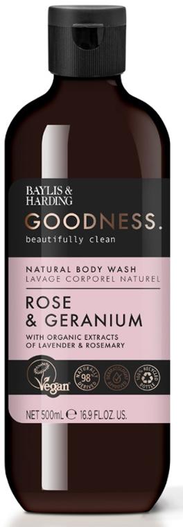 Naturalny żel pod prysznic - Baylis & Harding Goodness Rose & Geranium Natural Body Wash — фото N1