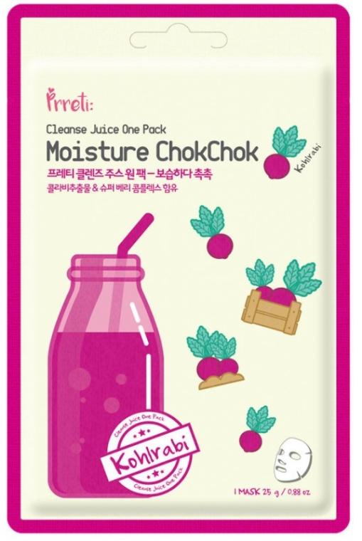 Nawilżająca maska do twarzy Czerwona kalarepa - Prreti Cleanse Juice One Pack — фото N1